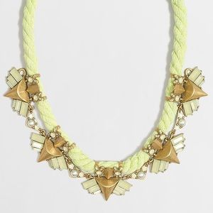 J. Crew factory embellished rope necklace